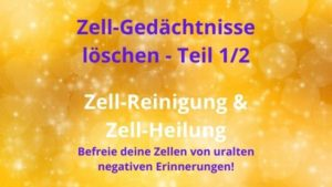 Zell-Gedächtnisse löschen Teil 1/2 – 27.10.2021 um 19:30