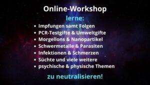 Workshop IMPFUNGEN, SHEDDING, GIFTE, NANOS & VIELES MEHR neutralisieren – 22.01.2022 von 10:00-13:00